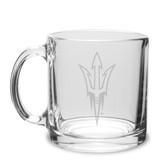 Arizona State Sun Devils 13 oz. Deep Etched Clear Glass Coffee Mug
