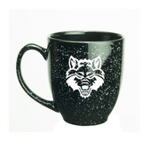 Arkansas State Red Wolves 15 oz. Deep Etched Black Bistro Mug