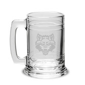 Arkansas State Red Wolves Deep Etched Colonial Deep Etched Beer TANKARD