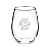 Boston College 15.0 oz. Deep Etched Stemless Deep Etched Red Wine Glass