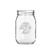 Boston College 16 oz. Deep Etched Old Fashion Drinking Jar