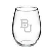 Boston University 15.0 oz. Deep Etched Stemless Deep Etched Red Wine Glass