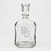 Boston University Deep Etched Whiskey Decanter