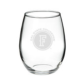 Cal State Fullerton 15.0 oz. Deep Etched Stemless Deep Etched Red Wine Glass