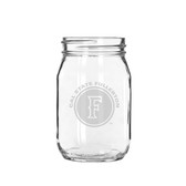 Cal State Fullerton 16 oz. Deep Etched Old Fashion Drinking Jar