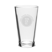 Cal State Fullerton 16 oz. Deep Etched Pub Glass