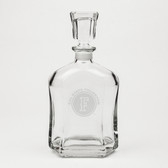 Cal State Fullerton Deep Etched Whiskey Decanter
