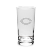 Chicago Maroons 10 oz. Deep Etched Highball Glass