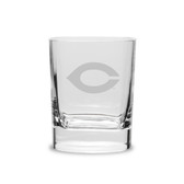 Chicago Maroons 11.75 oz. Deep Etched Double Old Fashion Glass