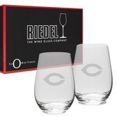 Chicago Maroons Deep Etched Riedel - 13.25 oz. Deep Etched Stemless Deep Etched White WINE GLASS-2 PACK