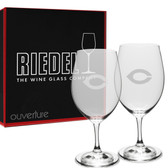 Chicago Maroons Deep Etched Riedel - 18 oz. Deep Etched Red Wine Glass - 2 PACK
