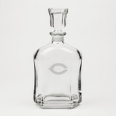 Chicago Maroons Deep Etched Whiskey Decanter