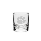 Clemson Tigers 10.5 oz. Deep Etched Football Double Old Fashion Glass