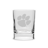 Clemson Tigers 11.75 oz. Deep Etched Double Old Fashion Glass