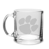 Clemson Tigers 13 oz. Deep Etched Clear Glass Coffee Mug