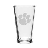 Clemson Tigers 16 oz. Deep Etched Pub Glass