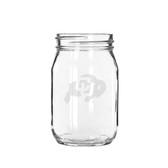 Colorado Buffaloes 16 oz. Deep Etched Old Fashion Drinking Jar