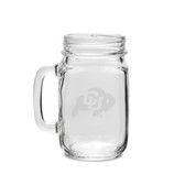 Colorado Buffaloes 16 oz. Deep Etched Old Fashion Drinking Jar with Handle