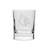 Louisville Cardinals 11.75 oz. Deep Etched Double Old Fashion Glass