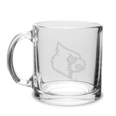 Louisville Cardinals 13 oz. Deep Etched Clear Glass Coffee Mug