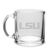LSU Tigers 13 oz. Deep Etched Clear Glass Coffee Mug