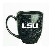 LSU Tigers 15 oz. Deep Etched Black Bistro Mug