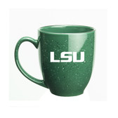 LSU Tigers 15 oz. Deep Etched Green Bistro Mug