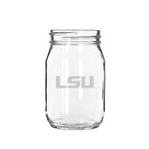 LSU Tigers 16 oz. Deep Etched Old Fashion Drinking Jar