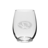 Missouri Tigers 1/2 Litre Deep Etched Wine Carafe