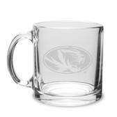 Missouri Tigers 13 oz. Deep Etched Clear Glass Coffee Mug