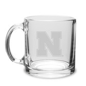 Nebraska Cornhuskers 13 oz. Deep Etched Clear Glass Coffee Mug