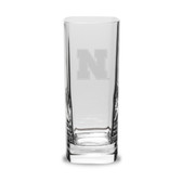 Nebraska Cornhuskers 13.5 oz. Deep Etched Square Round Double Old Fashion Glass