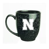 Nebraska Cornhuskers 15 oz. Deep Etched Black Bistro Mug