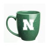 Nebraska Cornhuskers 15 oz. Deep Etched Green Bistro Mug