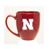 Nebraska Cornhuskers 15 oz. Deep Etched Red Bistro Mug