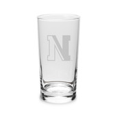 Northeastern Huskies 10 oz. Deep Etched Highball Glass