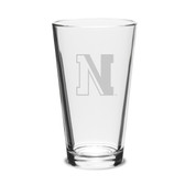 Northeastern Huskies 16 oz. Deep Etched Pub Glass