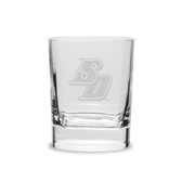 San Diego Tritons 11.75 oz. Deep Etched Double Old Fashion Glass