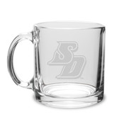 San Diego Tritons 13 oz. Deep Etched Clear Glass Coffee Mug