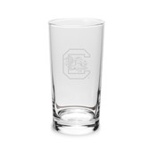 South Carolina Gamecocks 10 oz. Deep Etched Highball Glass