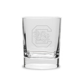 South Carolina Gamecocks 11.75 oz. Deep Etched Double Old Fashion Glass