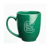 South Carolina Gamecocks 15 oz. Deep Etched Green Bistro Mug