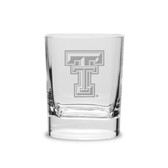 Texas Tech Red Raiders 11.75 oz Deep Etched Double Old Fashion Glass