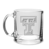 Texas Tech Red Raiders 13 oz Deep Etched Clear Glass Coffee Mug