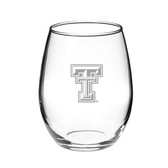 Texas Tech Red Raiders 15.0 oz Deep Etched Stemless Deep Etched Red Wine Glass