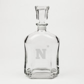 United State Naval Academy Deep Etched Whiskey Decanter