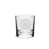Coast Guard Academy 10.5 oz Deep Etched Football Double Old Fashion Glass