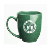 Coast Guard Academy 15 oz Deep Etched Green Bistro Mug