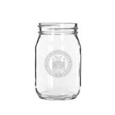 Coast Guard Academy 16 oz Deep Etched Old Fashion Drinking Jar
