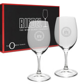 Coast Guard Academy Riedel - 10 oz Deep Etched White WINE GLASS
